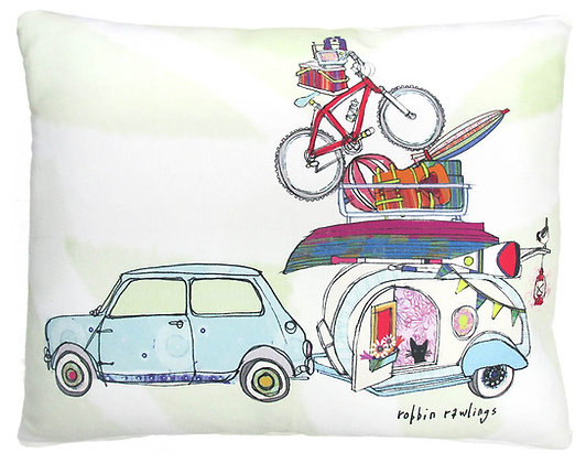 Vacation Camper Pillow, RR904, 2 sizes available