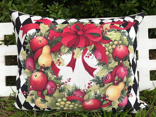 SW906HP, Harlequin Wreath, 19x24 only