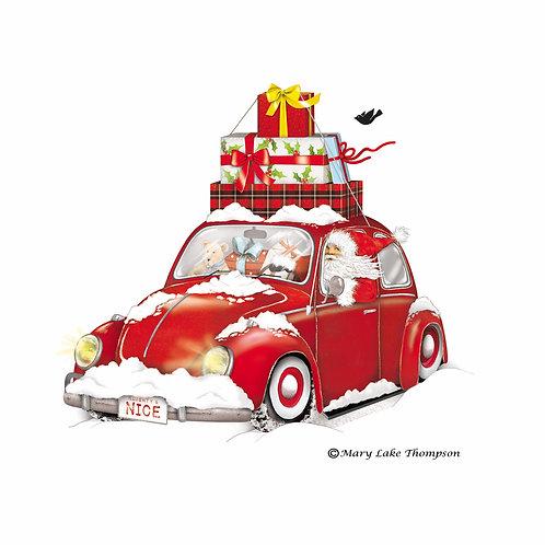 Christmas Car, MLT809LCS, 18x18