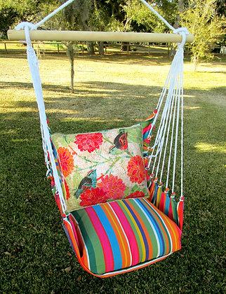 LJ Swing Set w/ Birds and Flowers Pillow, LJ513-SP