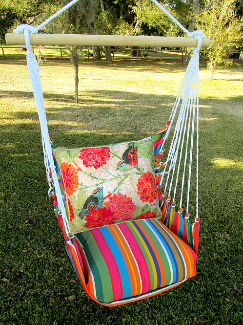 LJ Swing Set w/ Birds and Flowers Pillow, LJ513-SP