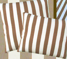 Striped Chocolate Fabric Pillow, SC246CL, 24x24