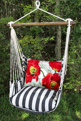 TB Swing Set w/ Red Poppies Pillow, TBCCPOP-SP