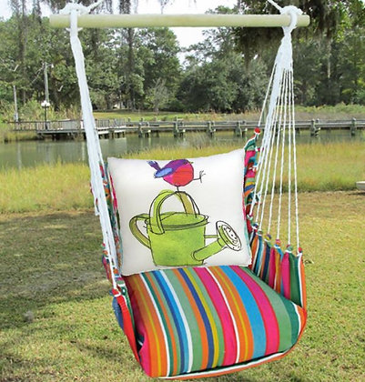 Bird on Watering Can Swing Set, LJRR612-SP