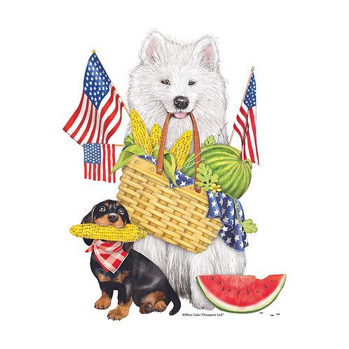 """MLT102LCS, Patriotic Pets, 18""""x18"""""""