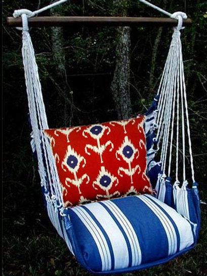 Marina Stripe Swing Set with Ikat Pillow,MAK1MA-SP