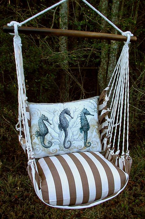 SC Swing Set w/ Seahorse Pillow, SCSEA-SP