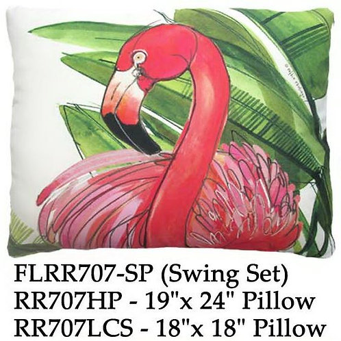Flamingo & Palm, RR707, 2 sizes