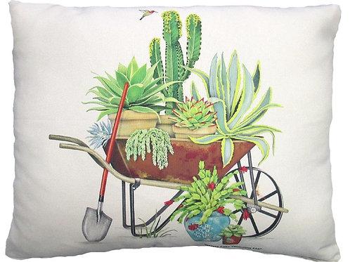 MLT203, Wheel Barrow of Succulents, 2 sizes