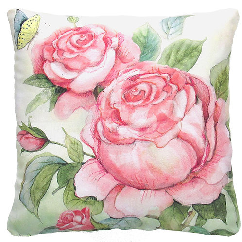 """SW103LCS, Rose double, 18""""x18"""""""
