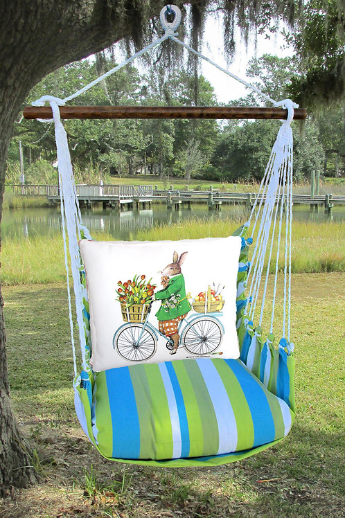 Rabbit on Bicycle Swing Set,  BBMLT803-SP