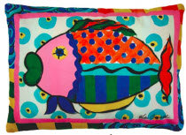 RB Pillow, Fish, VCLCS, 18x18
