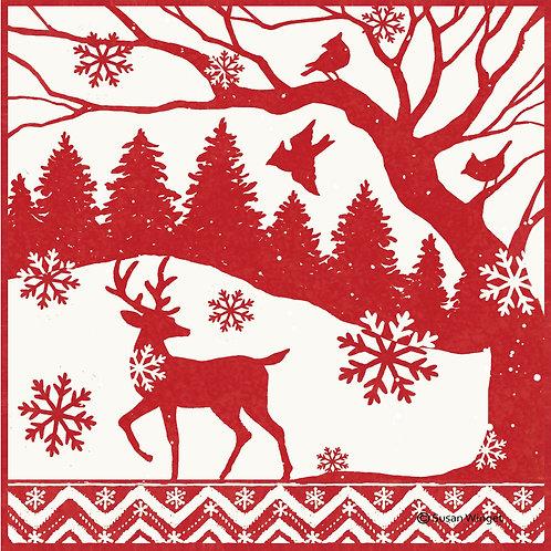 Reindeer Scene, SW810LCS, 18x18