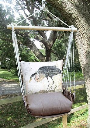 Crane Pillow with Chocolate Swing Set, CHSW903-SP