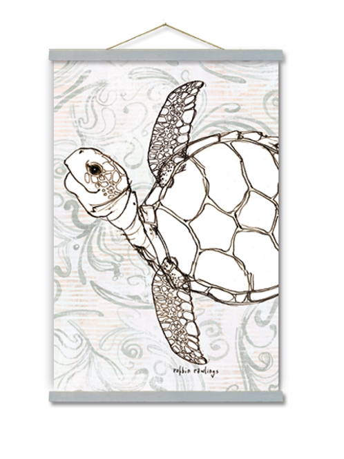 Sea Turtle Wall Art, RR208, 2 sizes