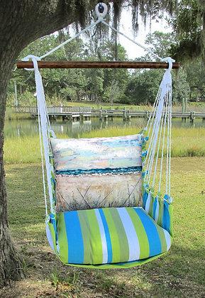 Beach Landscape  Pillow on Beach Boulevard Fabric, BBLS202-SP