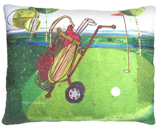 Golf Caddy Pillow, RR914, 2 sizes available