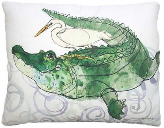 Alligator Pillow, RR713, 2 sizes