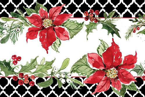 """Poinsettia Table Runner, SW812RNR, 14""""x 60"""""""