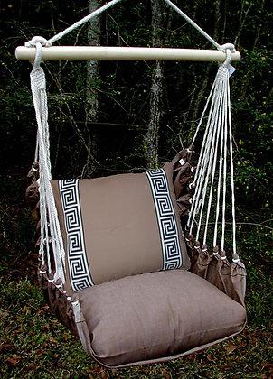 Chocolate SwingSet, Greek Key Pillow, CHGKBR-SP