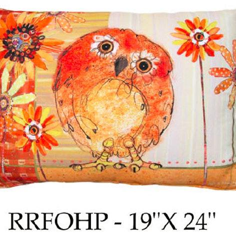 Owl Pillow, RRFOHP, 19x24