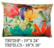 Tropical Flowers Pillow, TRP2, 2 sizes