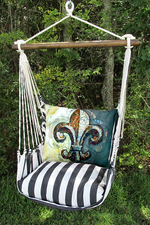 TB Swing Set w/ Fleur De Lis Pillow, TBFLBR-SP