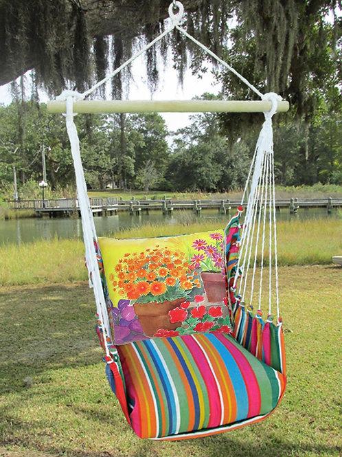 LJ Swing Set w/ Flowerpots Pillow, LJBC603 - SP