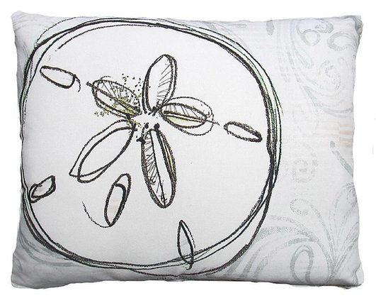 Sand Dollar Pillow, RR207, 2 sizes