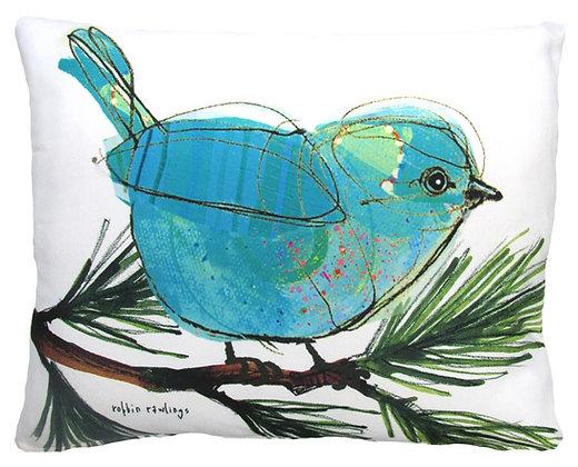 Bluebird Pillow, RR908, 2 sizes available