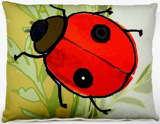 TB Pillow, Ladybug, RLBLCS, 18x18