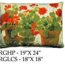 Red Geranium Pillow, RG, 2 sizes