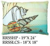 Shells Pillow, RRSS, 2 sizes