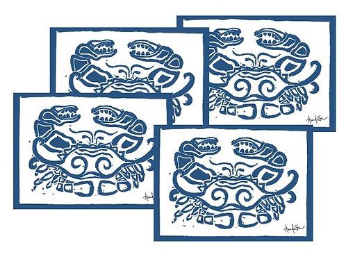 Crab Placemats, set of 4, PM-AK501