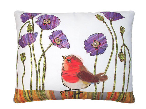 LT Pillow, Bird and Flowers, RR504HP, 19x24