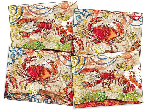 Fresh Catch Placemats, set of 4, PM-Fresh