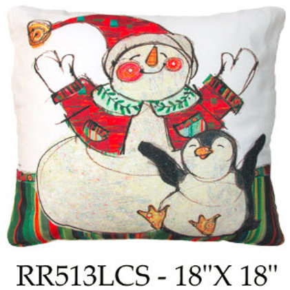 Snowman and Penguin, RR513 LCS, 18x18