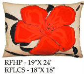 Red Flower Pillow, RF, 2 sizes