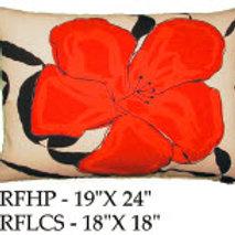 Red Flower Pillow, RF, 2 sizes