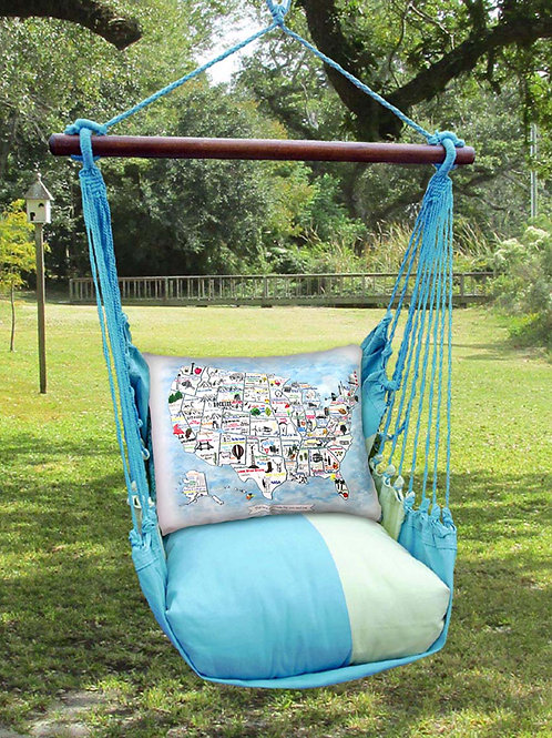 MM Swing Set w/ US Map Pillow, MMRR601-SP