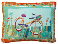 PK Pillow, Bicycle, RRBIFLLCS, 18x18