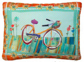 FL Pillow, Bicycle, RRBIFLHP, 19x24