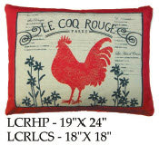 Rooster Pillow, LCR, 2 sizes