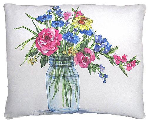 Bouquet in Jar Pillow, SR201, 2 sizes