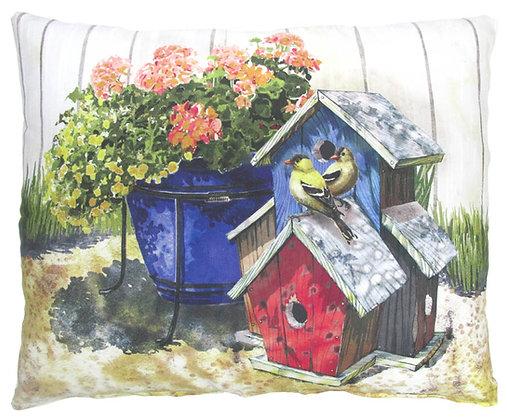 Birdhouses Pillow, TC902, 2 sizes