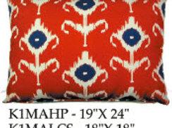 Ikat Pillow, K1MA, 2 sizes