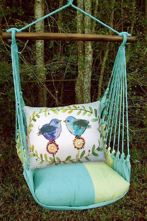 MM Swing Set w/ Bluebirds Pillow, MMRR503-SP