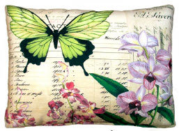Butterfly & Orchid Pillow, DP2Y, 2 sizes