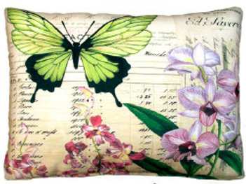 FO Pillow, Butterfly and Orchid, DP2YHP, 19x24