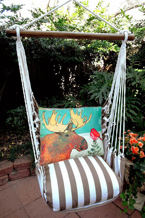Christmas Moose Swing Set, SCRR512-SP